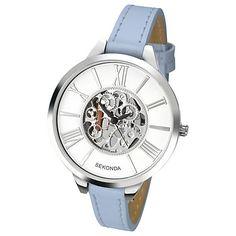 Buy Sekonda Women's Skeleton Faux Leather Strap Watch Online at johnlewis.com