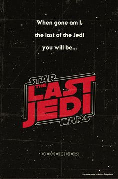 Sweet fan-made poster for episode 8!#starwars #starwars8 #thelastjedi