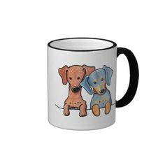Pocket Doxie Duo Coffee Mug #doxies #puppy #puppies #dogs #dogbreeds #pets #doglover