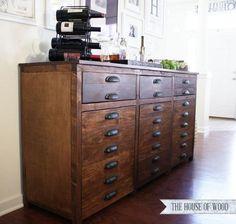 Printers Triple Console Cabinet