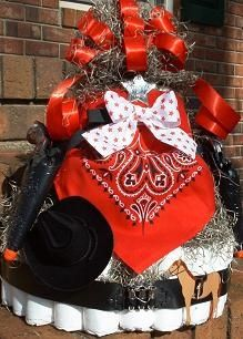 Cowboy Country Western Diaper Cake