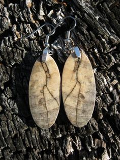 Wood Earrings Lightweight Made From by forestlifecreations on Etsy, $29.95