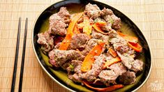 Traditional Korean comfort food: smoky grilled beef and vegetables. An easy recipe even for a novice cook.