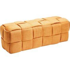 Oranžová lavica Kare Design Woven Orange