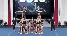 These girls whip around like cogs in motion. | 13 Mighty Spirited Cheer Stunts