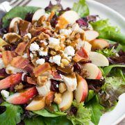 You can never have too many salad recipes so here is yet another one to add to your rotation! I love the fall flavors in this salad and how easy it is to t