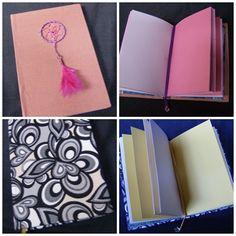 Cuadernos artesanales, hojas de colores
