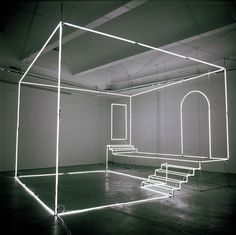 Neon Light Installations by Massimo Uberti…