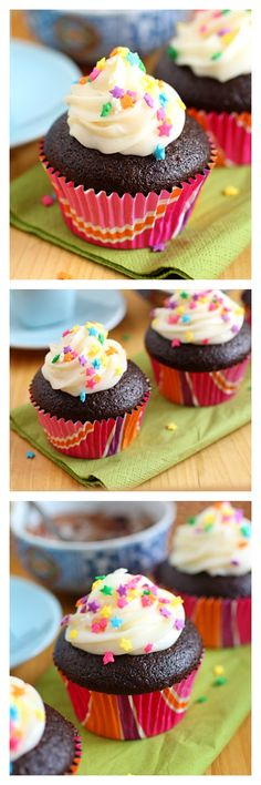 Chocolate Cupcakes with Ganache Filling...make these sweet, rich, decadent cupcakes with this super easy recipe | rasamalaysia.com