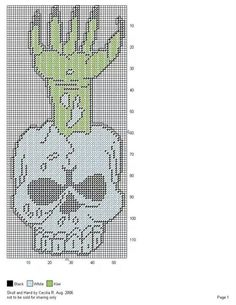 Skull and hand Plastic Canvas Ornaments, Plastic Canvas Tissue Boxes, Plastic Canvas Crafts, Plastic Canvas Patterns, Halloween Canvas, Halloween Prints, Halloween Patterns, Halloween Stuff, Cross Stitching