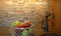 rustic backsplash tile