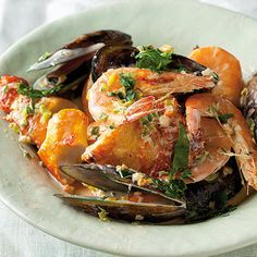 Haddock and prawn stew served with crusty bread Breaded Haddock Recipe, Haddock Recipes, Mussels, Prawn, Stew, Seafood, Pork, Turkey, Lunches