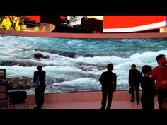 ISE 2015: Aoto's 8K 24-bit curved display - YouTube