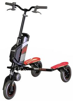 Trikke Colt Air Scooter Black with Red Best Scooter, Scooter Bike, Bicycle, Electric Trike, Kids Playroom Furniture, Air Ride, Automotive Design, Inventions, Shopping
