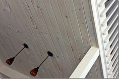 Whitewashed Pine Ceiling In 2019 White Wash Wood Wood Plank Ceiling, Shiplap Ceiling, Porch Ceiling, Wood Ceilings, Ceiling Tiles, Wood Beams, Ceiling Beams, Ceiling Design, Wood Walls
