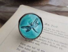 dragonfly ring Unique rings for her ornament Ring by MARIAELA