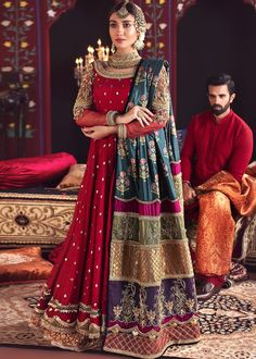 Designer Dresses By MahaRani Couture™ Looking To Create Or Customise Your Bridal Outfit Or Any S Pakistani Fashion Party Wear, Pakistani Wedding Outfits, Pakistani Bridal Dresses, Pakistani Dress Design, Bridal Outfits, Wedding Hijab, Hijab Fashion, Walima Dress, Fashion Dresses