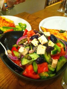 Greek Salad at Avocado Vegetarian Cafe, Athens - Itty Bitty Bristol