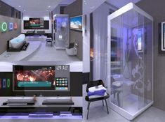 Warp into the Future with this High Tech Mac Home Office Espaos