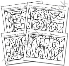 Hidden Alphabet Coloring Worksheets product from HeidiSongs on TeachersNotebook.com