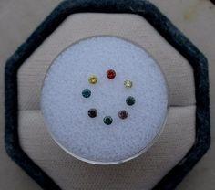 Multicolor Diamond Lot 8 Total Diamonds #pinnaclediamonds
