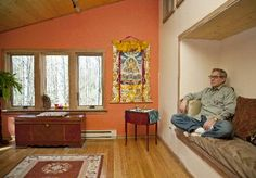 Seated meditation nook for one. Lower to the ground.