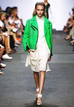 Neon Color Biker Jacket Trend forSpring Summer 2013.  Rag & BoneSpring Summer 2013  #Trendy #Fashion