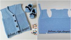 Nohut Örgü Bebek Yeleği Modeli Yapılışı – Örgü Videoları – Yeni Hobi Baby Knitting Patterns, Handmade Baby, Vest, Shirt Dress, Summer Dresses, Sweaters, Mens Tops, Shirts, Models