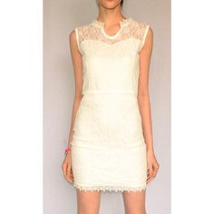 FLY WITH ME LACE MINI DRESS (19 BAM) ❤ liked on Polyvore featuring dresses, sleeveless lace dress, short lace dress, sleeveless short dress, white dresses and white sleeveless dress