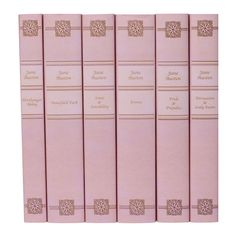 For this lovely complete set of Jane Austen books, Juniper Books makes custom book jackets available in either pink or vellum. A wonderful and classic gift!