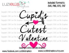 Cupid's Cutest Valentine SVG EPS DXF files by LuziEllisGraphics