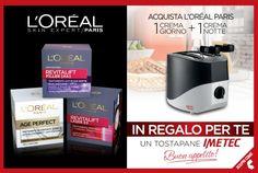 L'Oréal Paris ti regala un risveglio scattante: #tostapane #Imetec in #omaggio