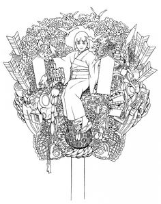 Millennium Actress by Satoshi Kon Tokyo Godfathers, Satoshi Kon, Animation Reference, Character Design References, Manga Comics, Line Art, Manga Anime, Illustration Art, Cartoon