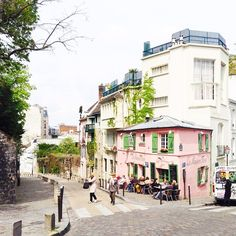 My favorite part of exploring Paris is finding charming little streets like this one near Montmartre.
