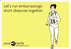 "Hopefully I will move on from ""embarassingly short distances"""