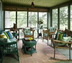 Mountain Home with Great Views | Traditional Home  sun...screened in porch