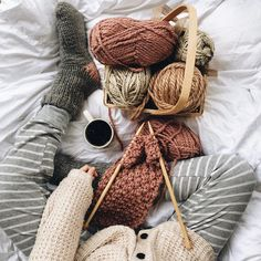 """❁ -𝚔. ❁ on Instagram: """"➵ another snow day calls for a whole lotta thissss - i'm making a scarf for my darling grandmother because she spent so many years knitting…"""""""