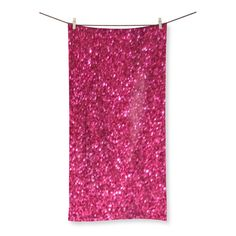 Pink Glitz Beach Towel