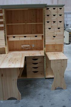 Sewing Cabinet. Facades Quilting Cupboard Deluxe. Facades of Devon. | eBay