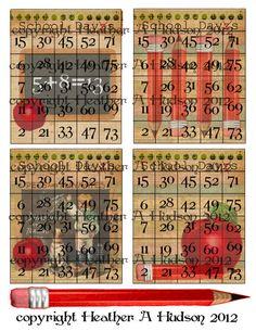 Items similar to Vintage Back to School Bingo Cards Collage Sheet Digital images on Etsy Bingo Board, 49er, Collage Sheet, Digital Collage, Hugs, Digital Image, Back To School, Scrapbook, Etsy Shop
