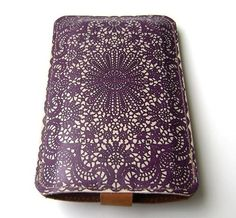 Purple Lace Leather iPhone case