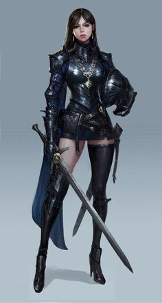 Royal Knight / ART by Cham s / Game concept artist Fantasy Female Warrior, Warrior Girl, Fantasy Women, Fantasy Girl, Fantasy Concept Art, Dark Fantasy Art, Fantasy Artwork, Special Characters, Fantasy Characters
