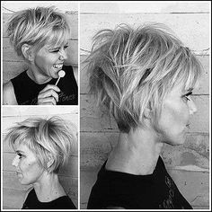 Pixie Cut Pixie cuts are one of the most popular and fashionable in the last years. Most women hesitate but pixie will give you a different vibe and make you attractive Layered Pixie Cut, Cute Pixie Cuts, Long Layered, Long Pixie Cuts, Long Pixie Bob, Short Shaggy Bob, Shaggy Pixie, Short Shaggy Haircuts, Pixie Bob Haircut