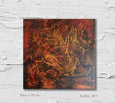 Acrylmalerei -  Acrylbild Golden Bird  #083 - ein Designerstück von SoMa-Art bei DaWanda