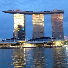 Marina Bay Sands #Singapore at sunset