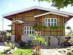 Simple Bungalow House Designs, Modern Bungalow House, Cottage Style House Plans, Simple House Design, House Front Design, Bungalow Homes, Bamboo House Design, Tropical House Design, Filipino House