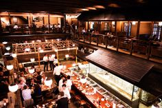 Gonpachi at Nichiazabu crossing. The huge Japanese style house is very cool. Grill food is good as well as Soba. Good for drinks too. G.W. Bush has been here. 5 min walk from Roppongi Hills/Grand Hyatt Roppongi