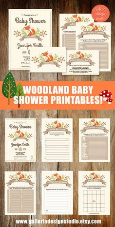 47 trendy baby shower ideas for boys themes woodland animals products Boy Baby Shower Themes, Baby Shower Fall, Baby Shower Invitations For Boys, Baby Shower Parties, Baby Boy Shower, Baby Shower Gifts, Woodlands Baby Shower Theme, Shower Party, Baby Dekor