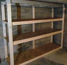 how to build cheap shelves for storage