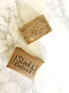DIY stout coffee soap
